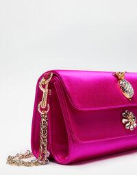 Dolce&Gabbana DORINE SATIN CLUTCH WITH JEWEL APPLICATIONS