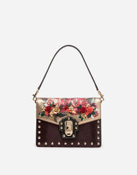 LUCIA SHOULDER BAG IN LEATHER AND PYTHON LEATHER