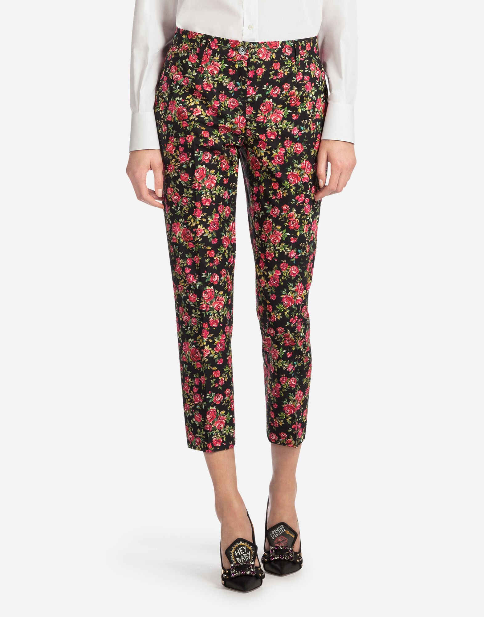 PRINTED COTTON PANTS