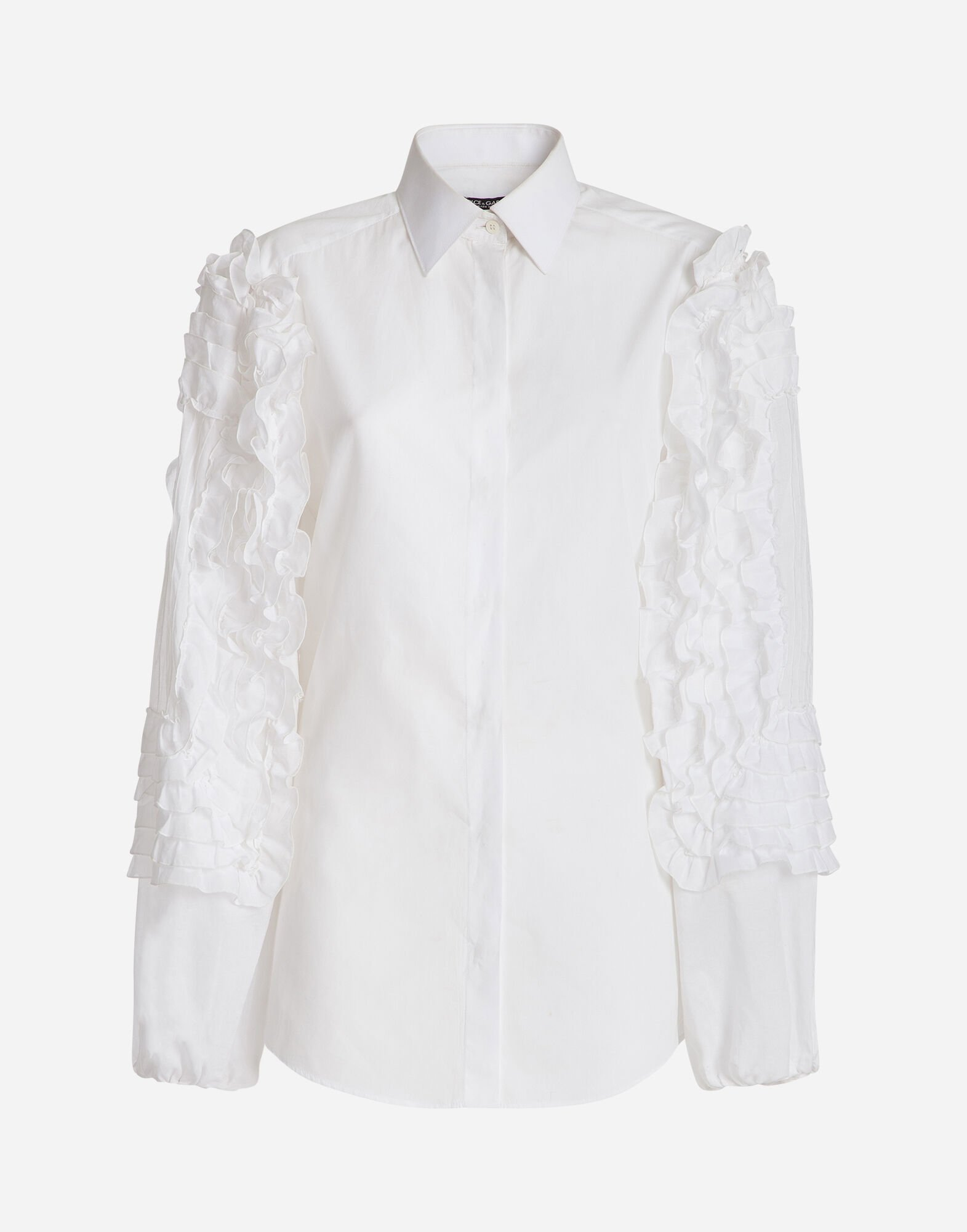 COTTON SHIRT WITH RUCHE DETAILS