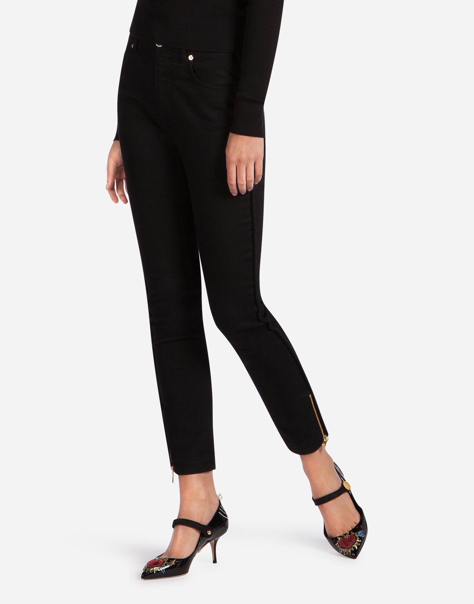 SKINNY JEANS WITH PIPING