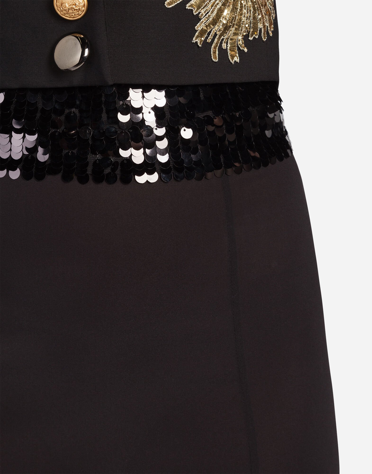 SILK SKIRT WITH SEQUINS