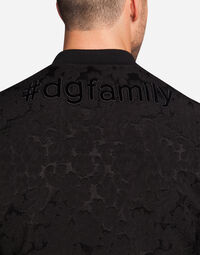 BOMBER IN JACQUARD WITH DESIGNERS' PATCH