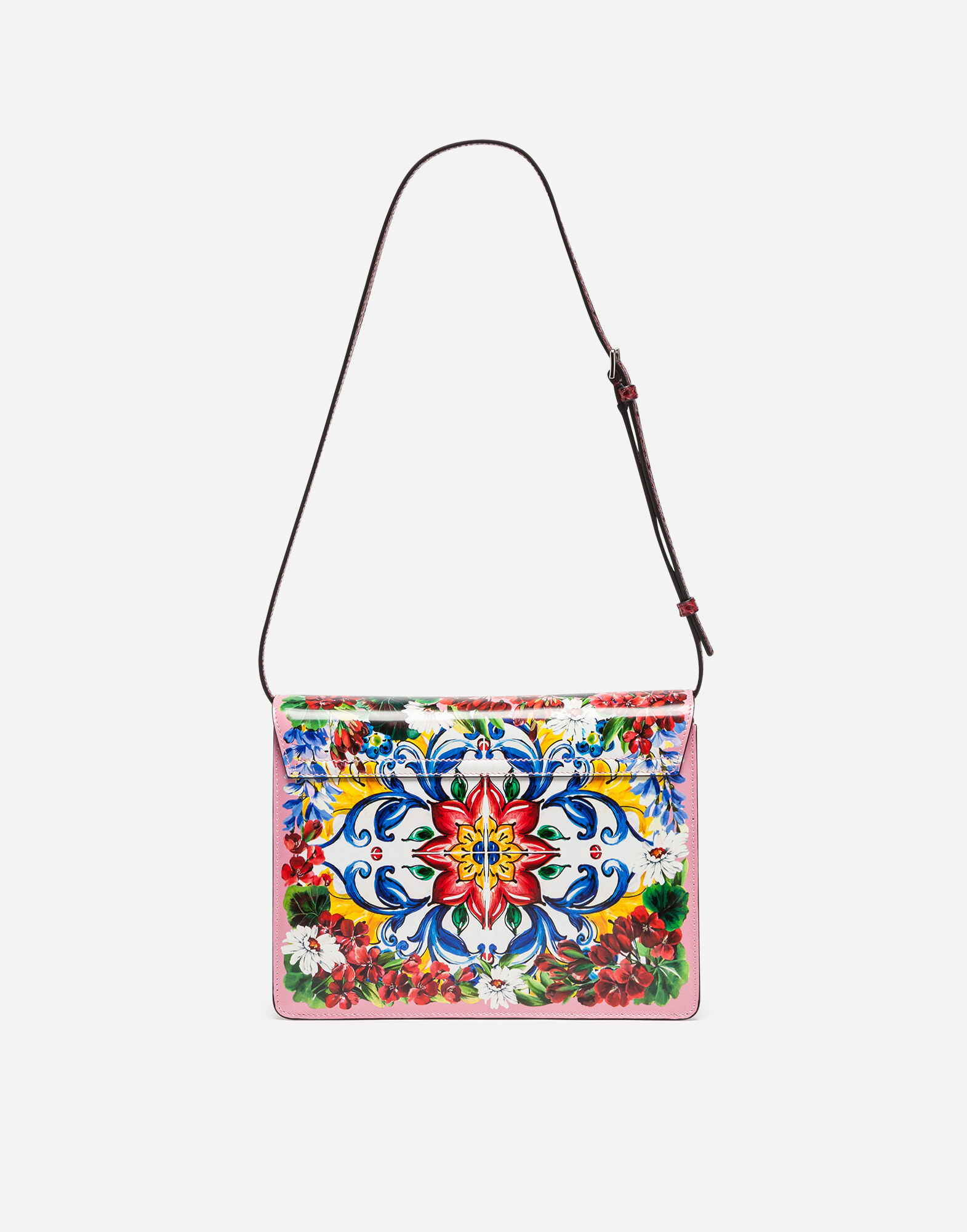 PRINTED LEATHER AND AYERS LUCIA SHOULDER BAG