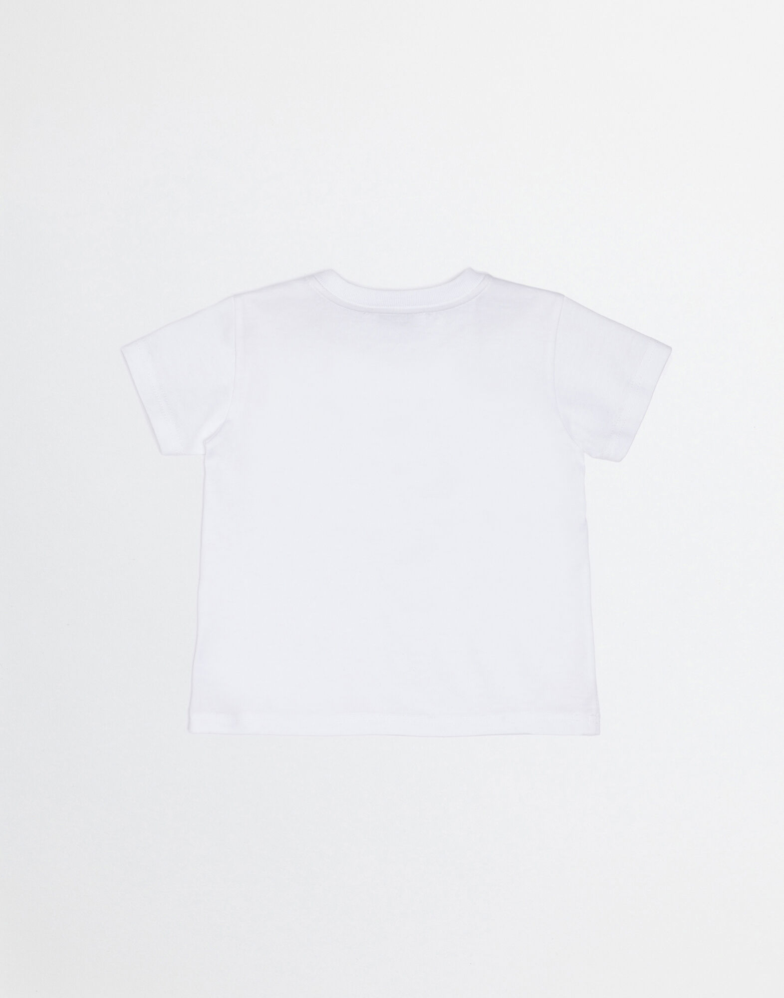 COTTON T-SHIRT WITH PATCHES OF THE DESIGNERS
