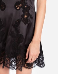 SILK LINGERIE DRESS WITH EMBROIDERY
