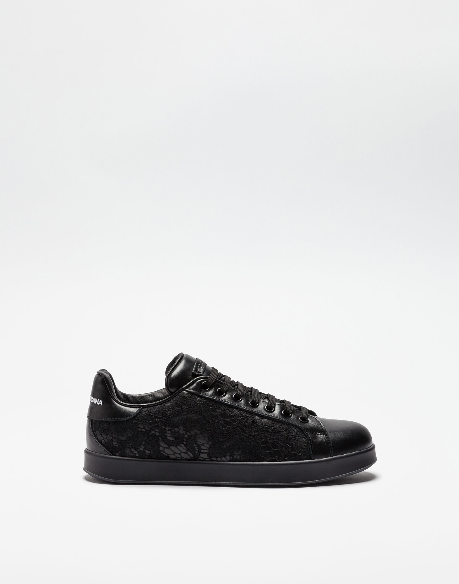 LEATHER AND LACE SNEAKERS