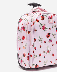 PRINTED NYLON TROLLEY SUITCASE