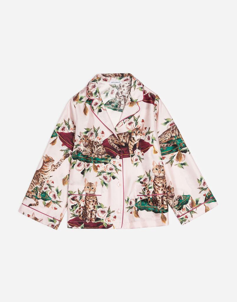 Dolce&Gabbana PRINTED SILK TWILL SHIRT
