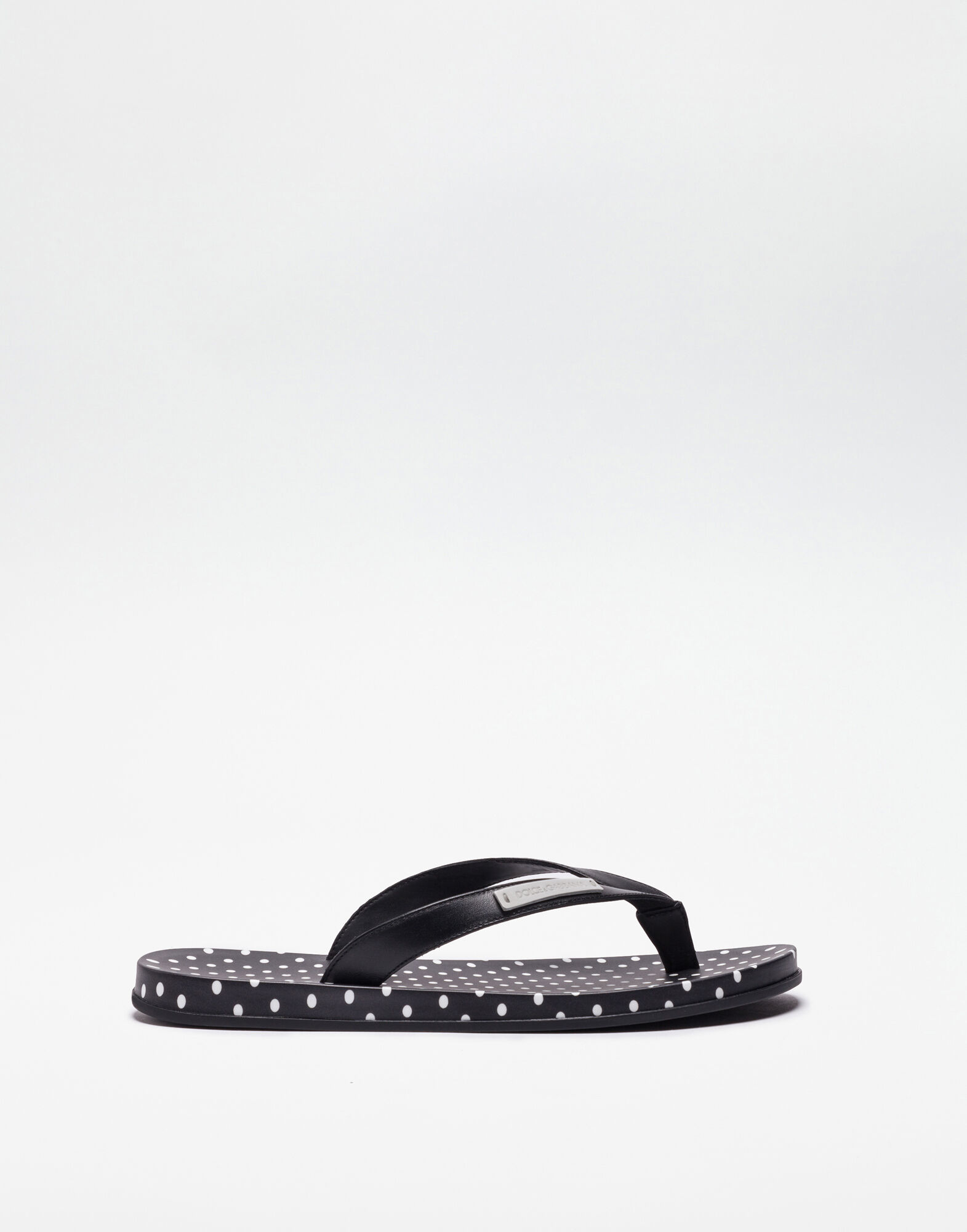 PRINTED RUBBER TOE-THONG SANDALS