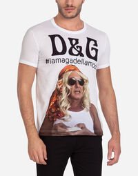 T-SHIRT WITH #LAMAGADELLAMODA PRINT