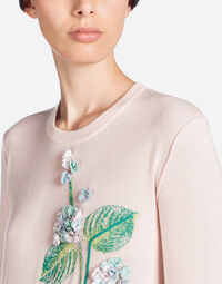CASHMERE SWEATSHIRT WITH EMBROIDERY