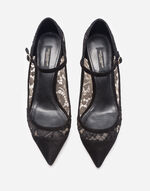 SUEDE AND LACE MARY JANES