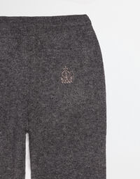 CASHMERE PANTS WITH EMBROIDERY