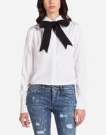 COTTON SHIRT WITH BOW