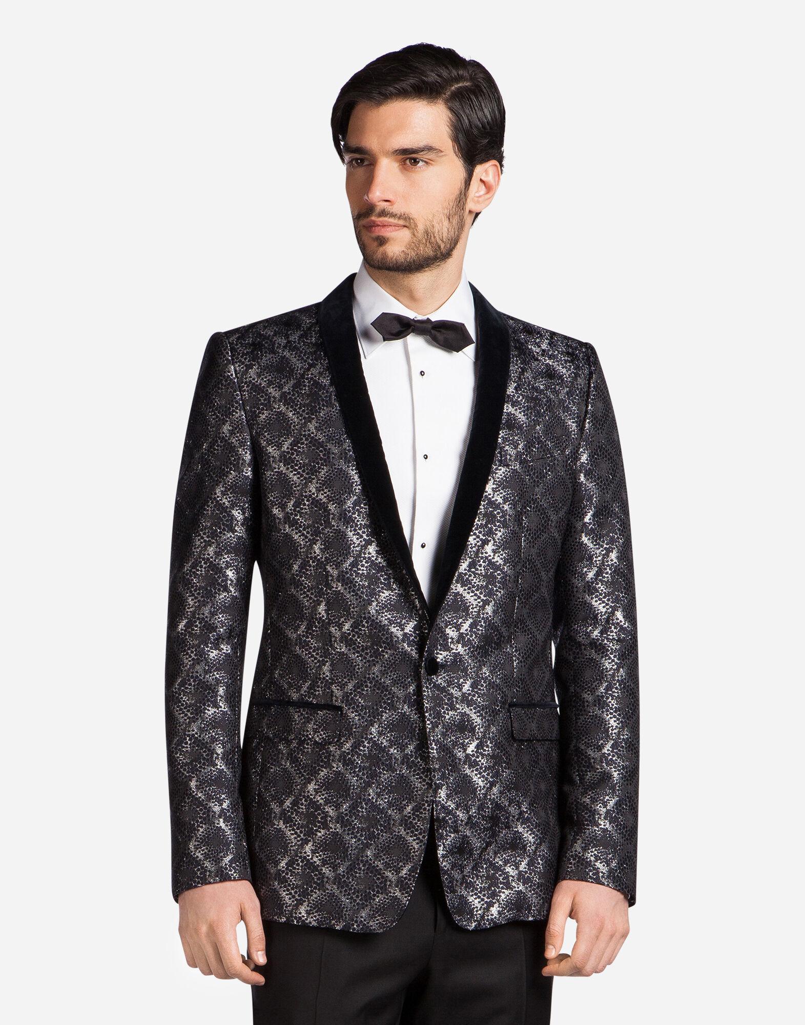 Dolce&Gabbana TUXEDO BLAZER IN LUREX JACQUARD