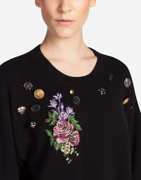 WOOL SWEATER WITH PATCH
