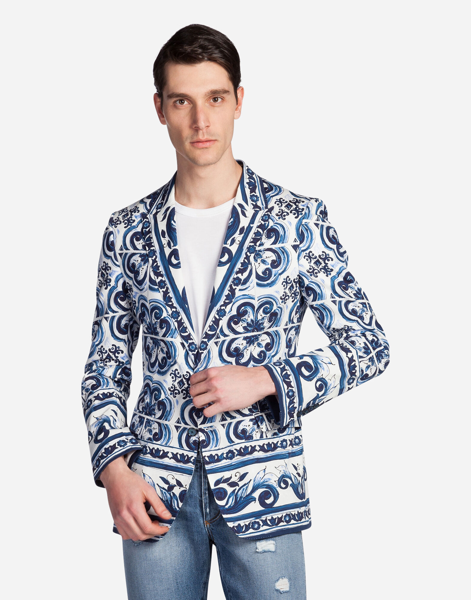 BLAZER IN PRINTED COTTON