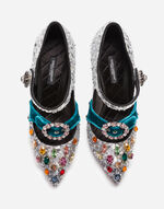 SEQUINED MARY JANES WITH CRYSTALS