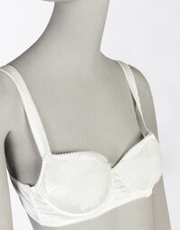 PADDED BALCONY BRA IN SATIN