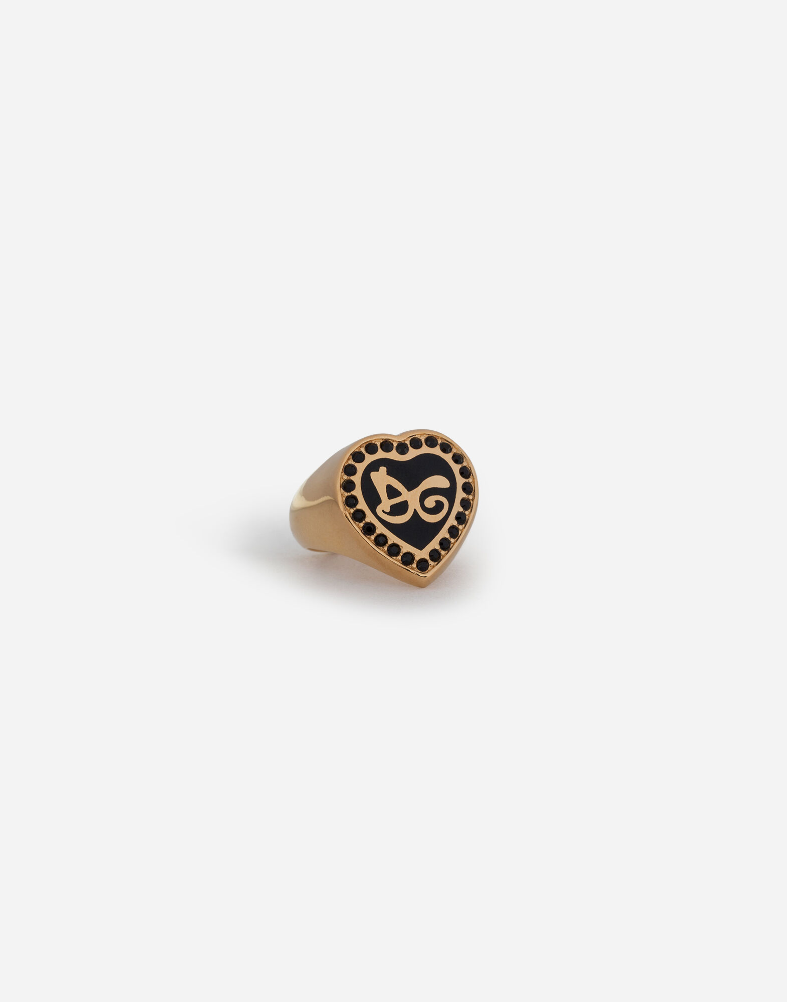 RING WITH DG LETTERING AND CRYSTALS