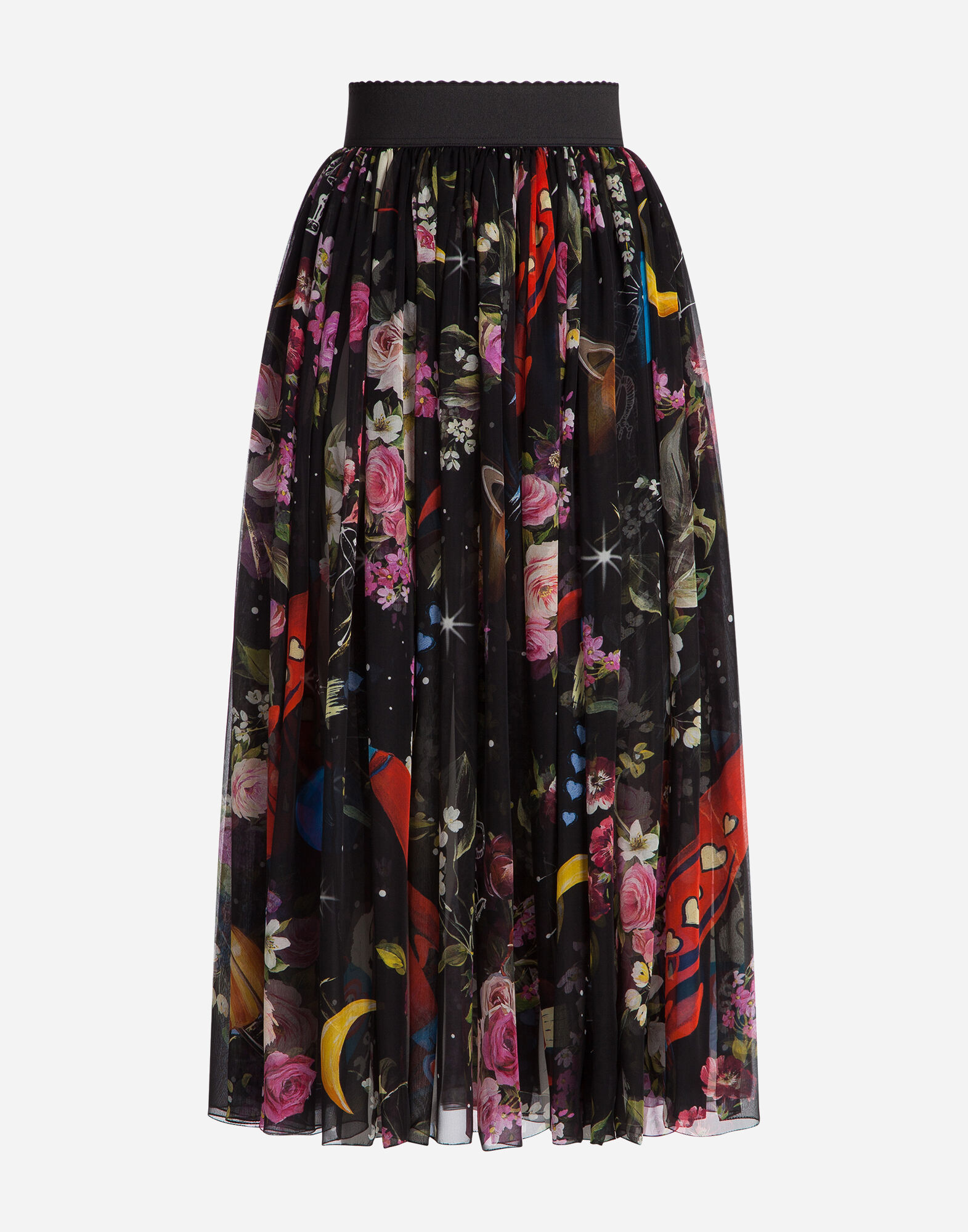 PRINTED SILK SKIRT