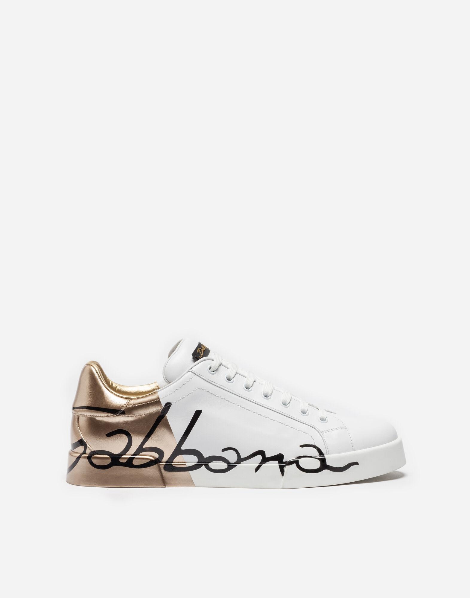 dolce gabbana portofino sneakers in leather and patent white modesens. Black Bedroom Furniture Sets. Home Design Ideas