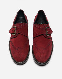 SUEDE MONK STRAP SHOES