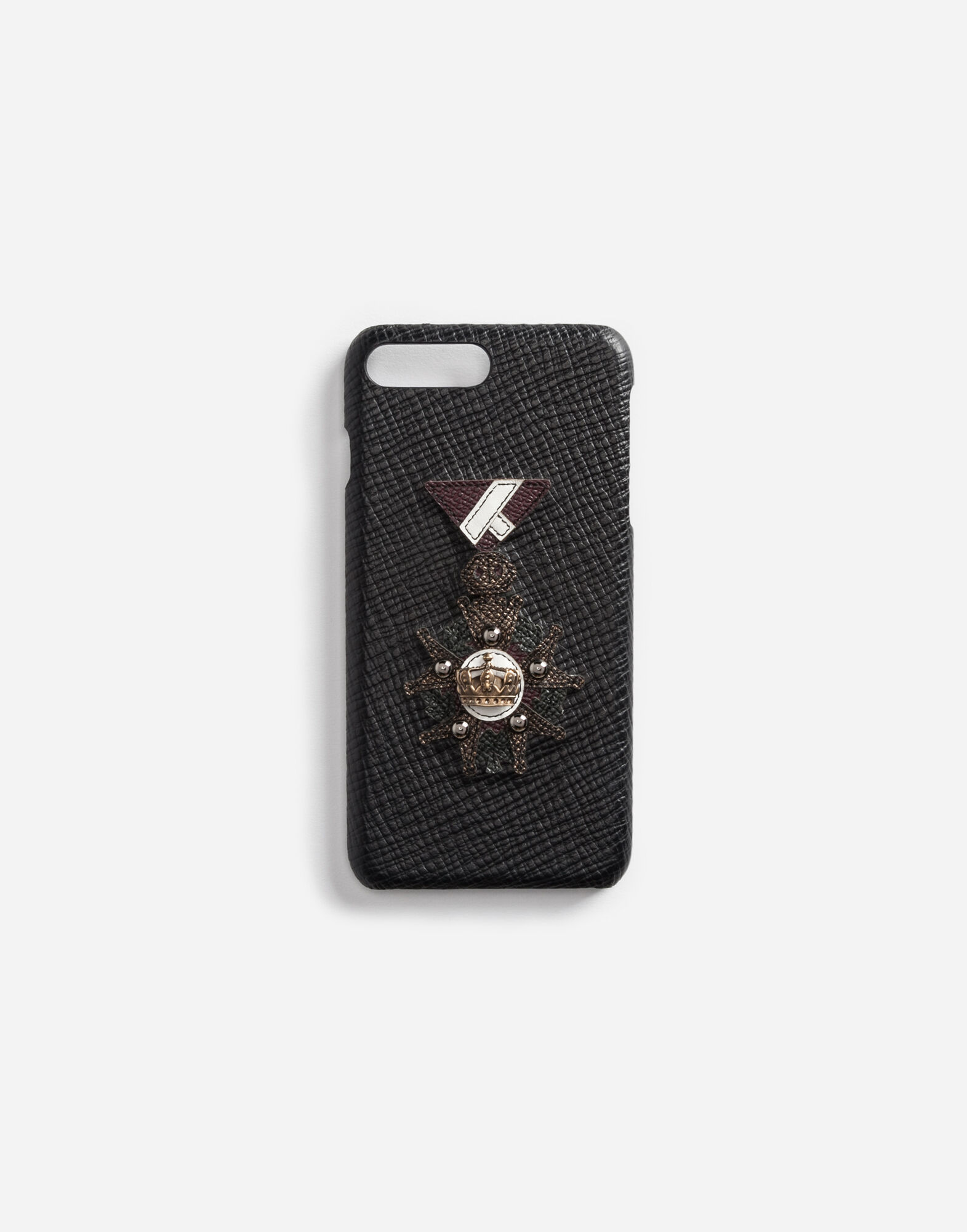LEATHER IPHONE 7 PLUS COVER WITH PATCH