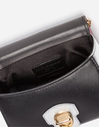 Dolce&Gabbana PRINTED LEATHER HANDBAG WITH APPLIQUÉS
