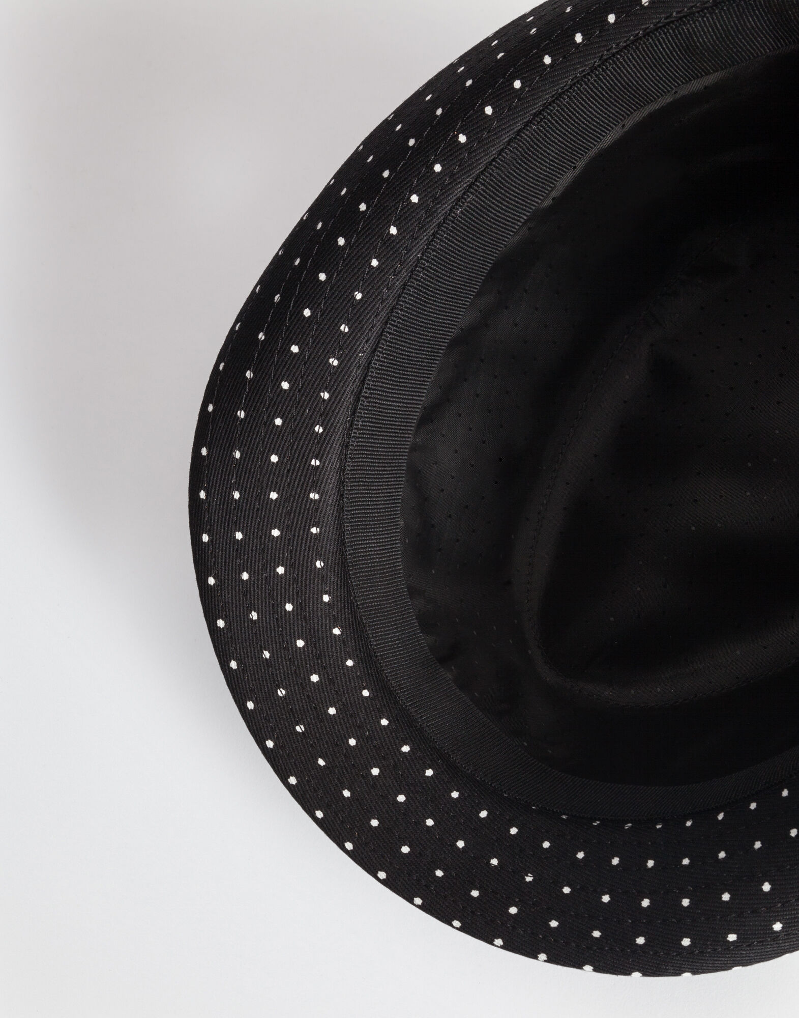 PRINTED COTTON HAT TRILBY