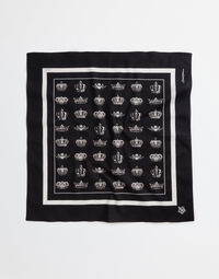 PRINTED COTTON SQUARE FOULARD