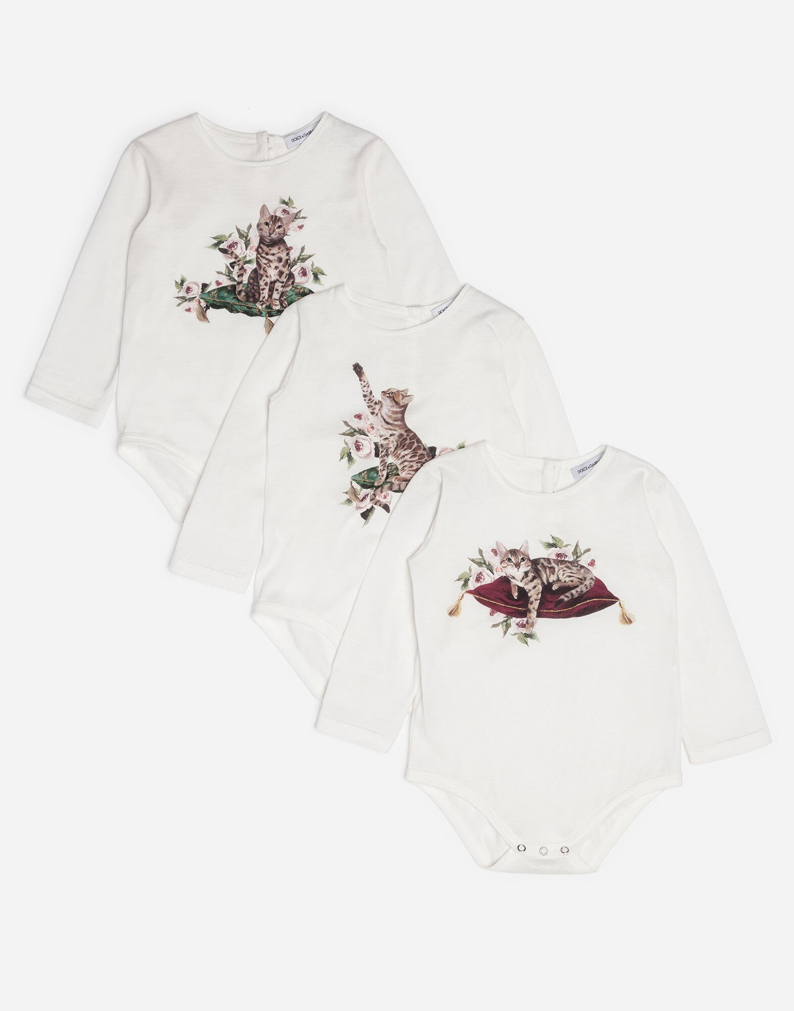 SET OF THREE PRINTED BODYSUITS