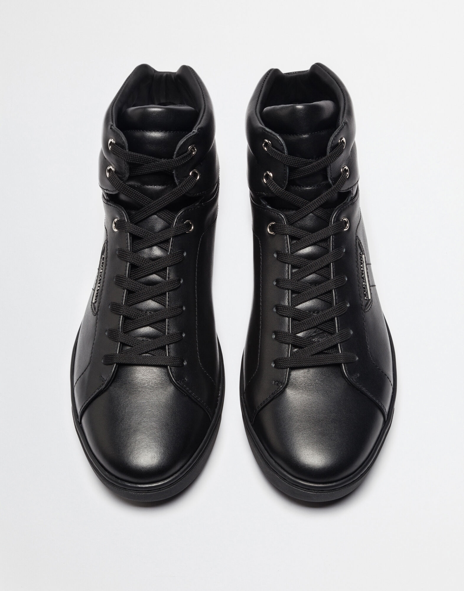 LONDON LEATHER HIGH TOP SNEAKERS