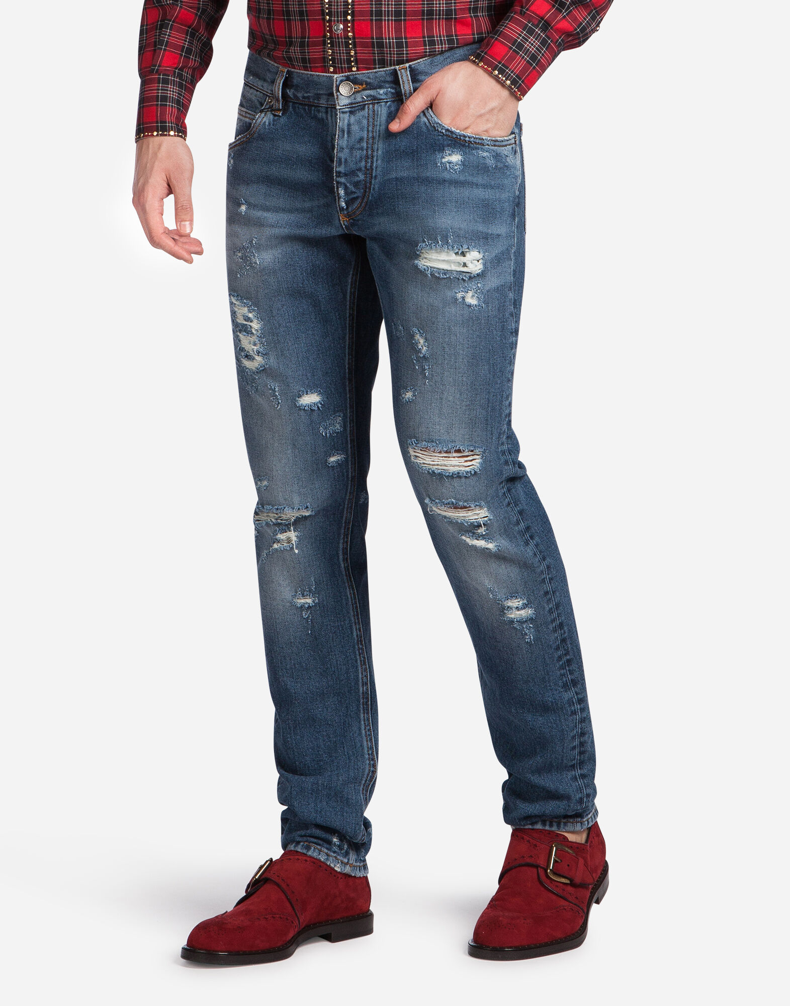 CLASSIC FIT JEANS WITH REAR PATCH