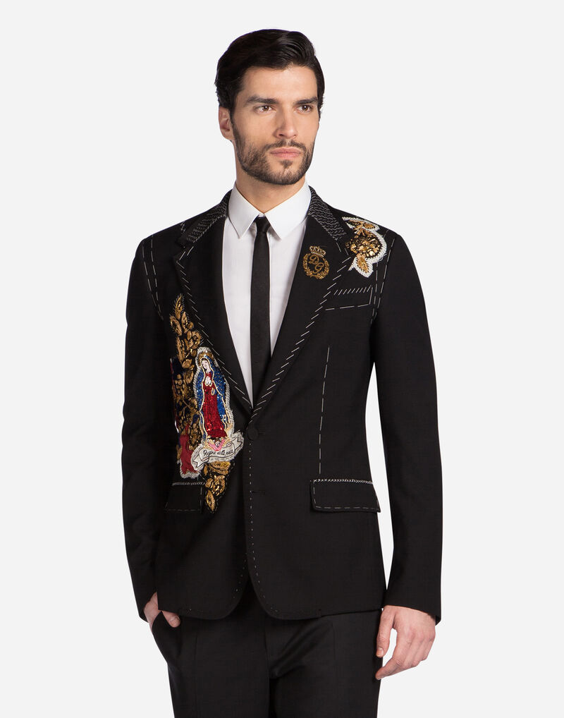 WOOL JACKET WITH EMBROIDERY