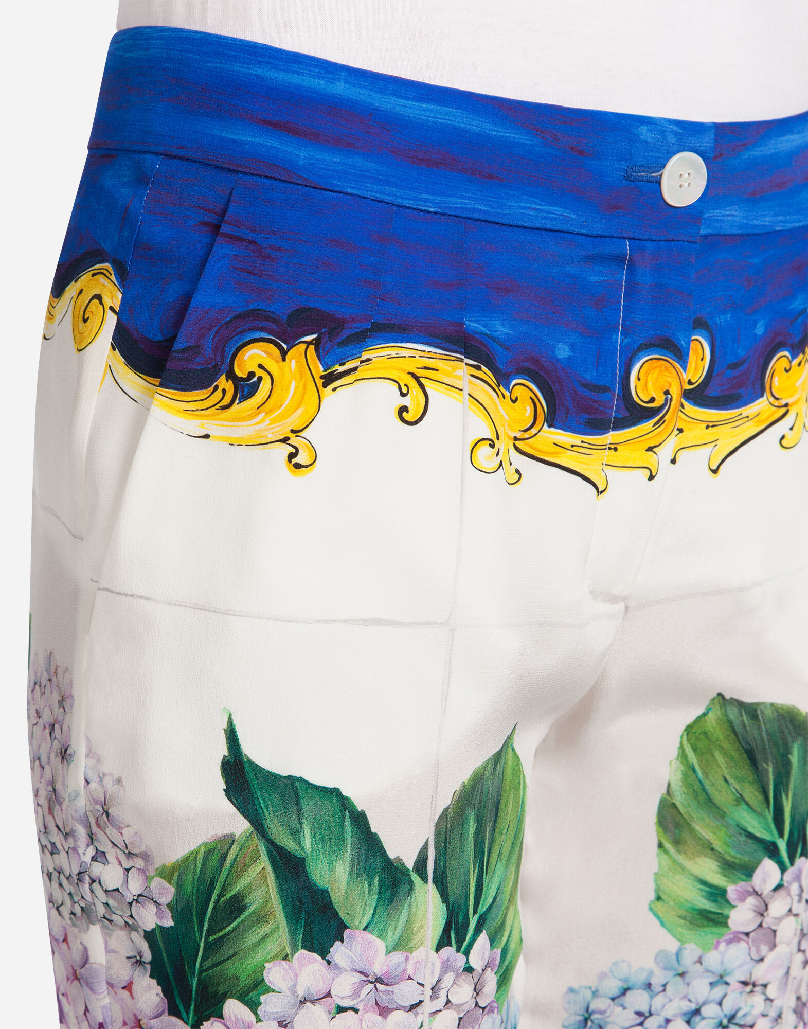 Dolce&Gabbana PRINTED SILK TROUSERS