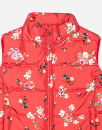 SLEEVELESS PRINTED NYLON DOWN JACKET
