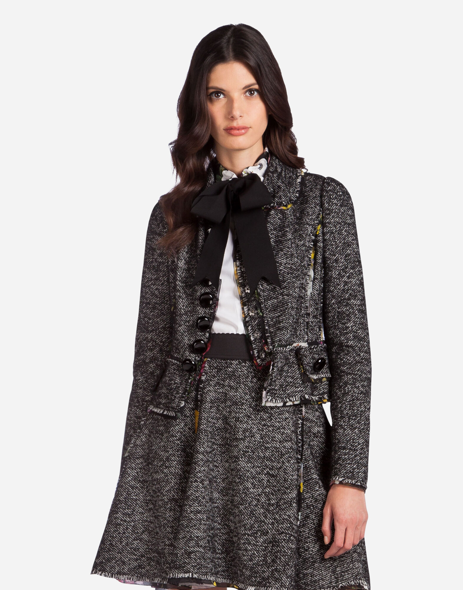 SINGLE-BREASTED JACKET WITH PRINTED DETAILS