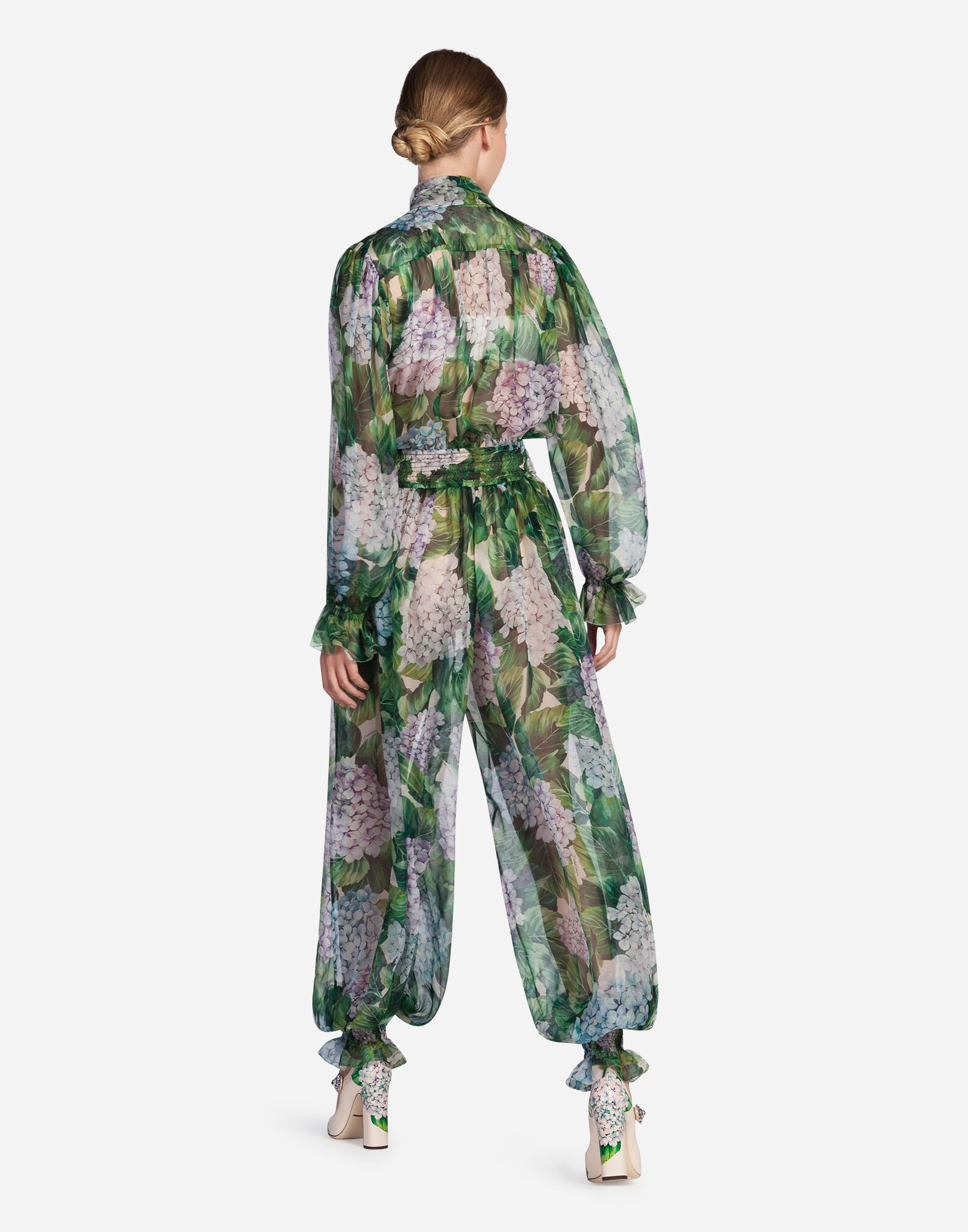 JUMPSUIT IN PRINTED SILK