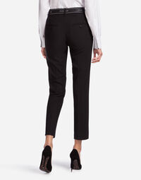 STRETCH WOOL FABRIC PANTS