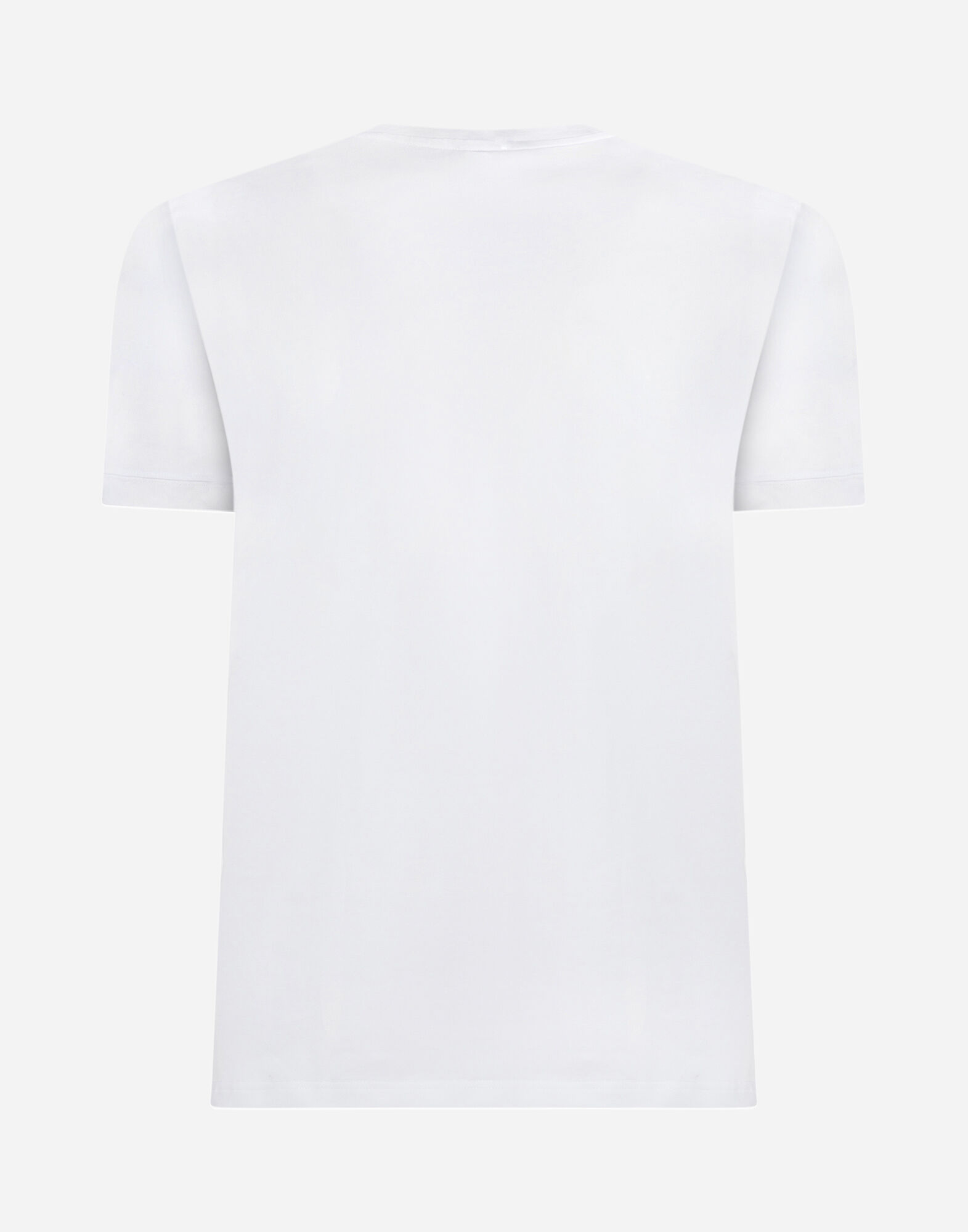 CREW NECK T-SHIRT IN COTTON WITH EMBROIDERY