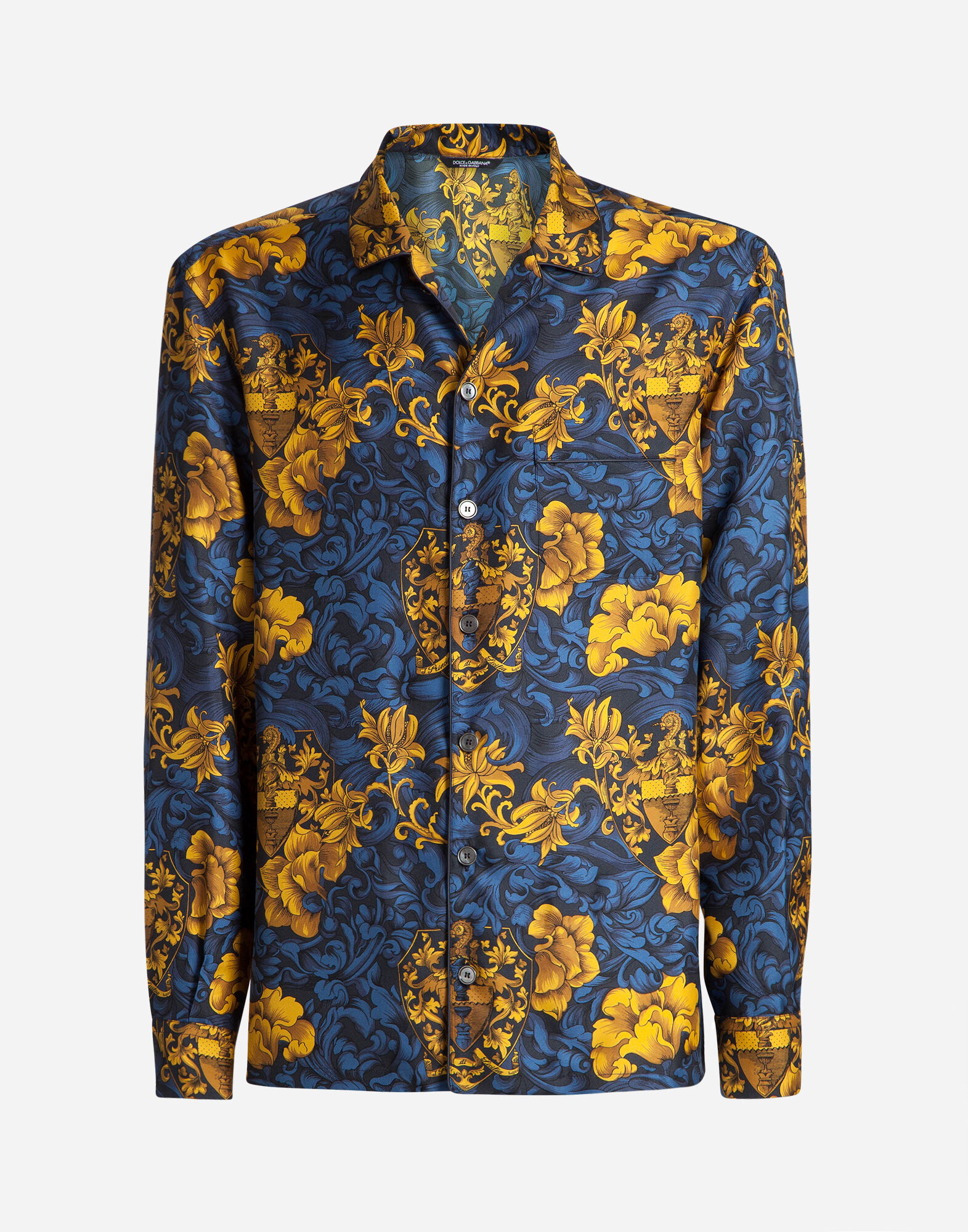 PYJAMA SHIRT IN PRINTED SILK