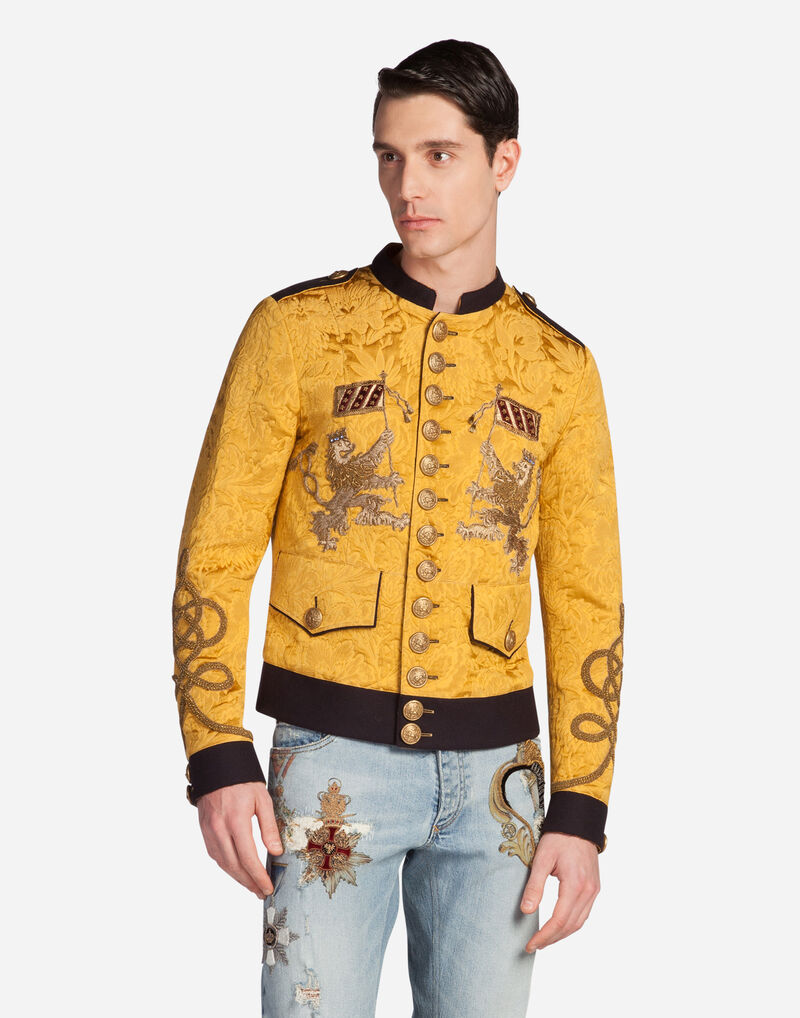 JACQUARD JACKET WITH PATCH