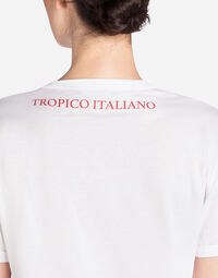 "T-SHIRT WITH PRINT ""IO C'ERO"" IN ENGLISH"