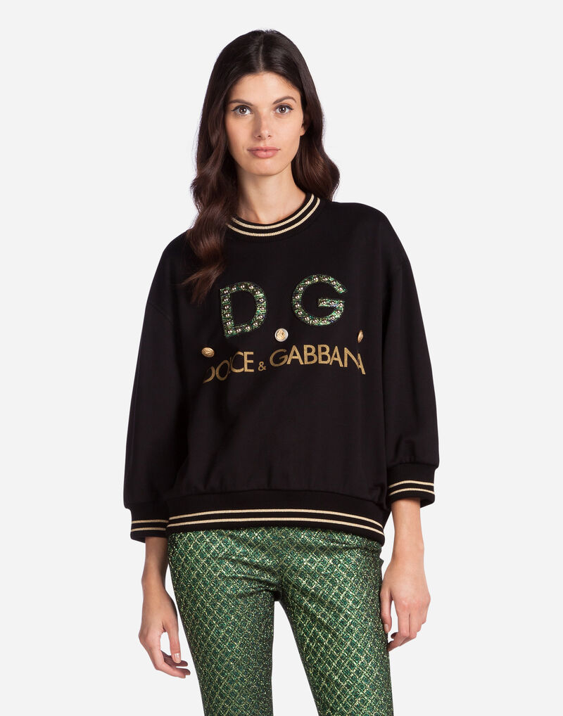 COTTON SWEATSHIRT WITH LOGO EMBROIDERY