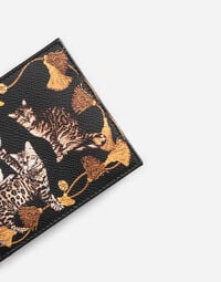 PRINTED DAUPHINE LEATHER WALLET