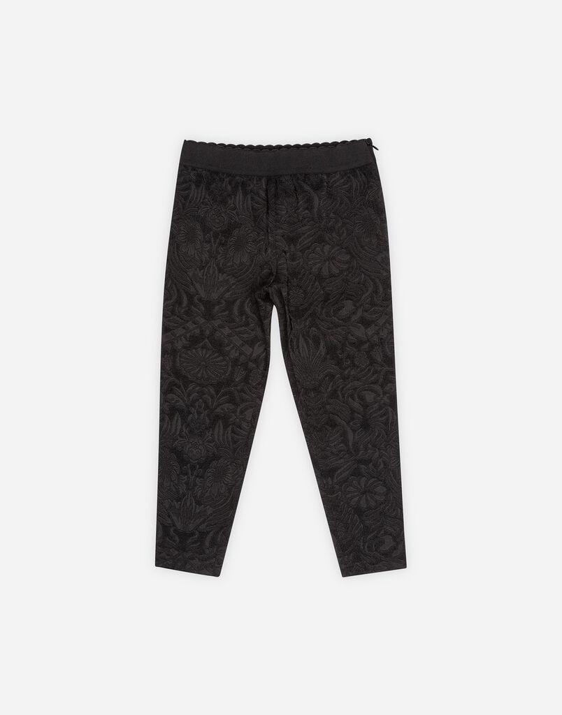 STRETCH JACQUARD PANTS