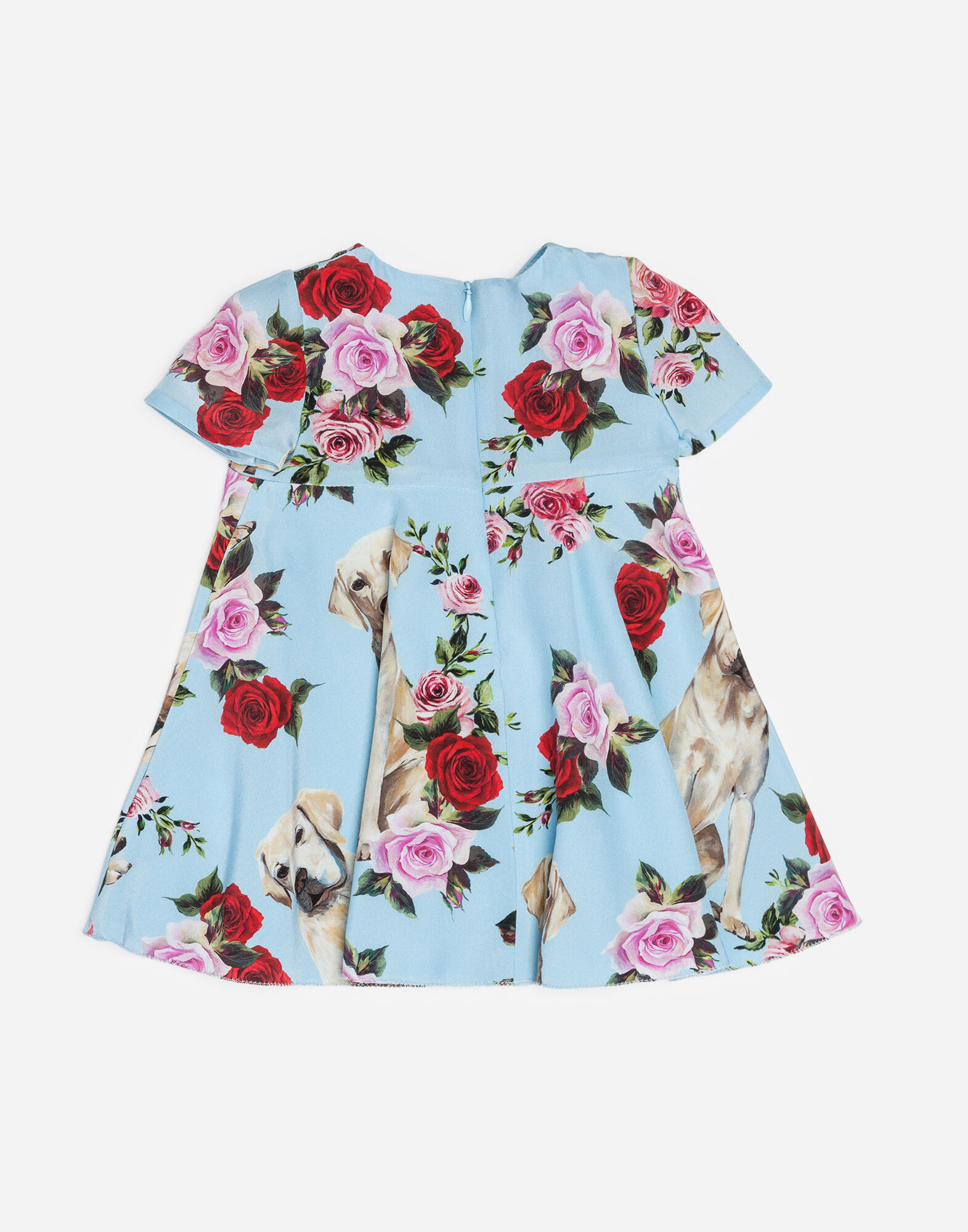Dolce&Gabbana CREPE DE CHINE DRESS WITH MIMMO PRINT