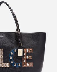 LEATHER BEATRICE BAG WITH PATCH